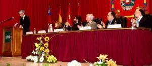 Un momento del discurso de Adolfo Suárez Illana.