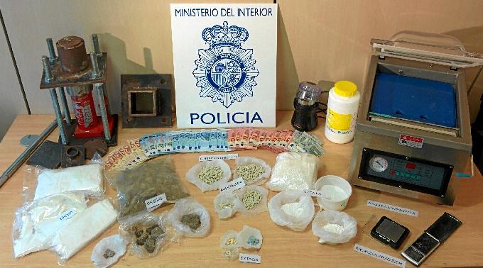 Una operación contra el tráfico de drogas en Castellón finaliza con 22 detenidos y 840 kilos de hachís incautados