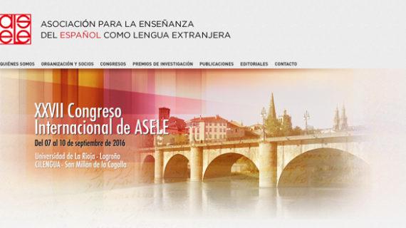 El XXVII Congreso de la Asociación para la Enseñanza del Español como Lengua Extranjera reunirá a 200 especialistas en La Rioja