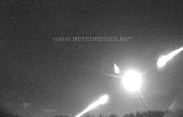 Científico detecta una gran bola de fuego que atraviesa las provincias de Granada y Jaén y que cayó como meteorito