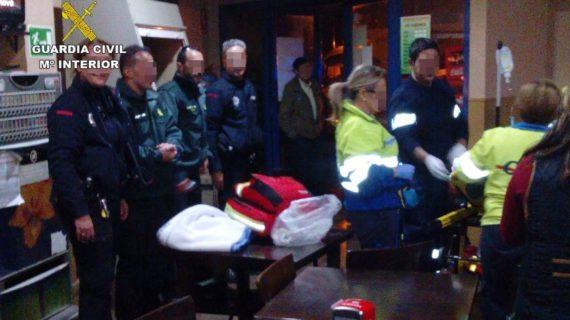 Dos guardias civiles salvan la vida a un hombre de 70 años tras sufrir un infarto en La Aljorra