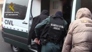 Detención de la banda. / Foto: Guardia Civil.