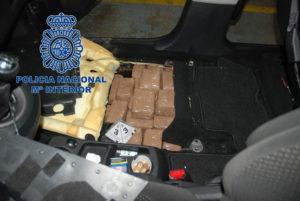 Droga incautada por la Policía Nacional.