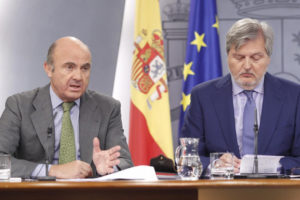 Rueda de prensa de Luis de Guindos. / Foto: Europa Press.
