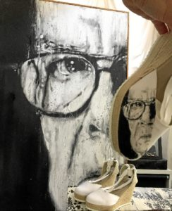 El pintor onubense afincado en Berlín Emilio Fornieles acaba de terminar la serie 'Gigantes sobre Esparto',