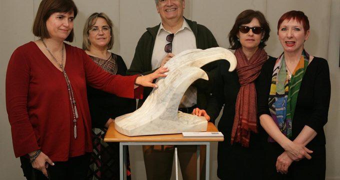 """El Museo Tiflológico de la ONCE acoge la exposición de esculturas para """"ver y tocar"""" 'Fractales', de Sara Giménez"""