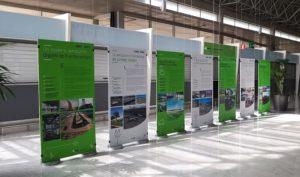 Exposición de fotografías en el Aeropuerto de Fuerteventura.