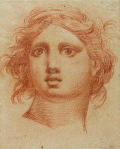 Imagen del dibujo a lápiz de Goya 'Cabeza de ángel' prestado al Museo del Prado. / Foto: José Garrido.
