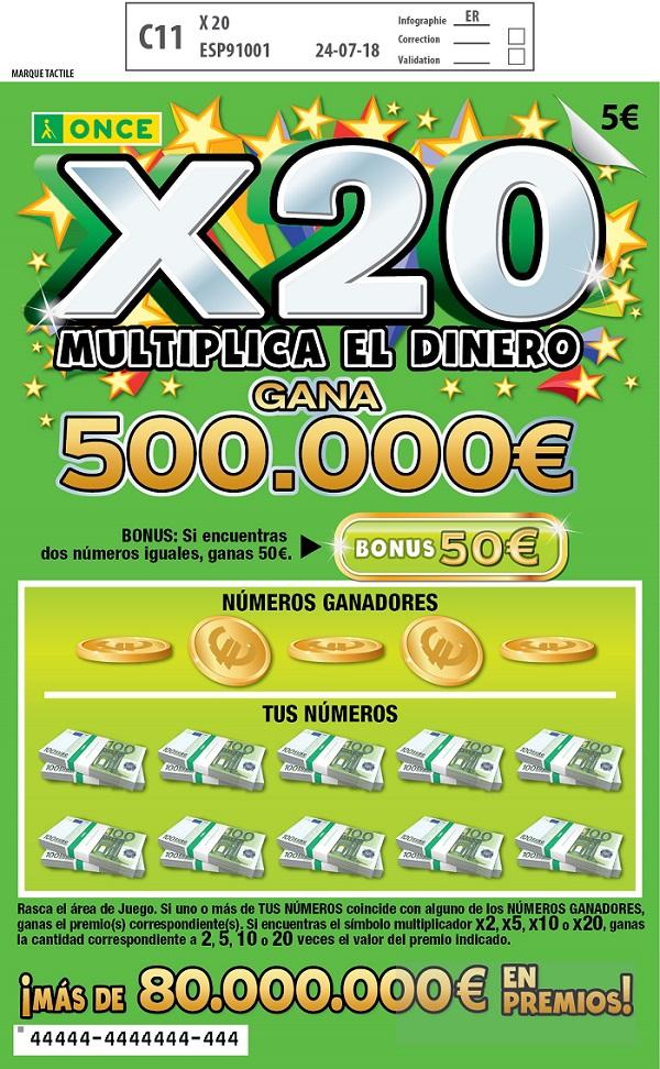 El mayor premio del 'Rasca X20' de ONCE cae en San Martín de la Vega