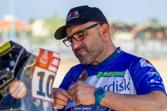 El piloto español Daniel Albero,, un diabético en el Dakar