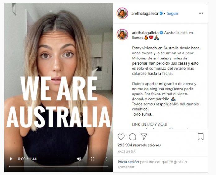 Influencer española recauda dinero para salvar Australia