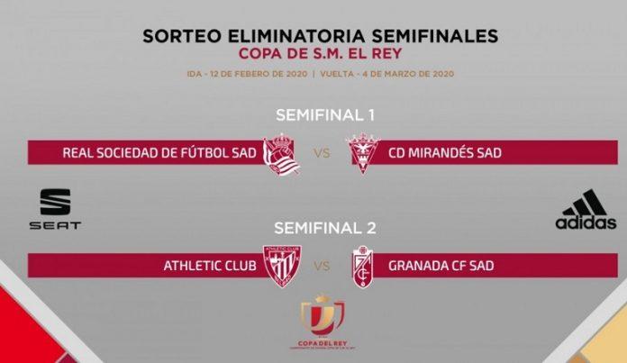 Real Sociedad-Mirandés y Athletic-Granada, semifinales de Copa del Rey