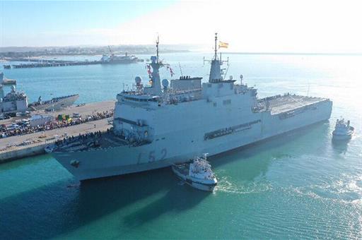 La Armada enviará el buque ´Galicia´ para reforzar la sanidad en Melilla