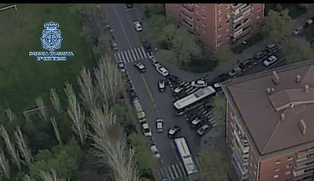 Detención tras una espectacular persecución en coche en Madrid