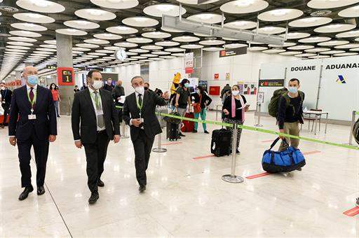 Supervisión de prevención y control en los aeropuertos por el Covid-19