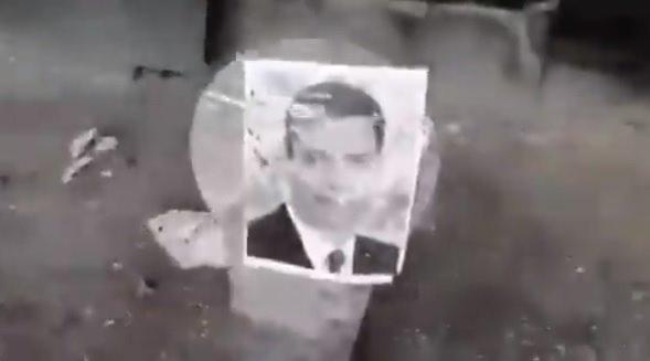 Localizan galería donde se grabó el vídeo de disparos a fotos de políticos