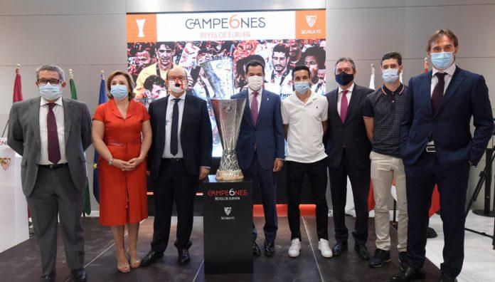 Acto de celebración de la sexta Europa League del Sevilla FC.