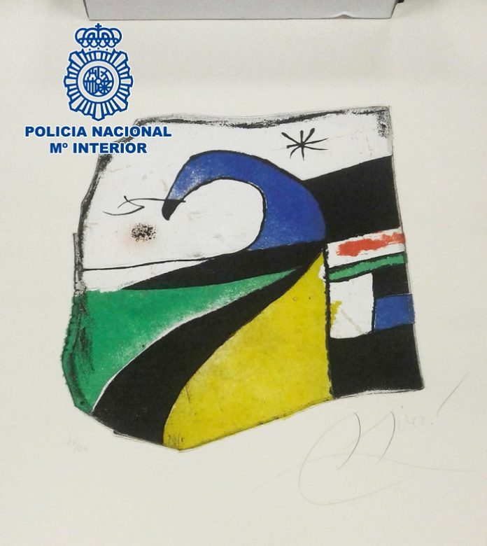 Localizan una obra desaparecida de Miró cuando iba a ser subastada