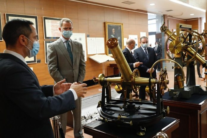Felipe VI inaugura la muestra conmemorativa del 150º aniversario del Instituto Geográfico Nacional