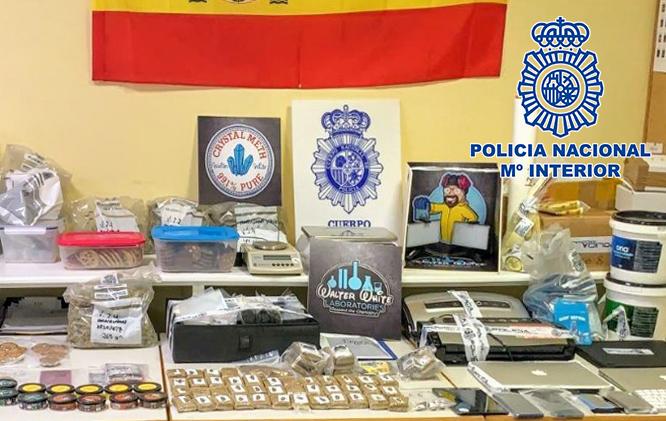 Pillados exportando droga camuflada mediante envíos de paquetería