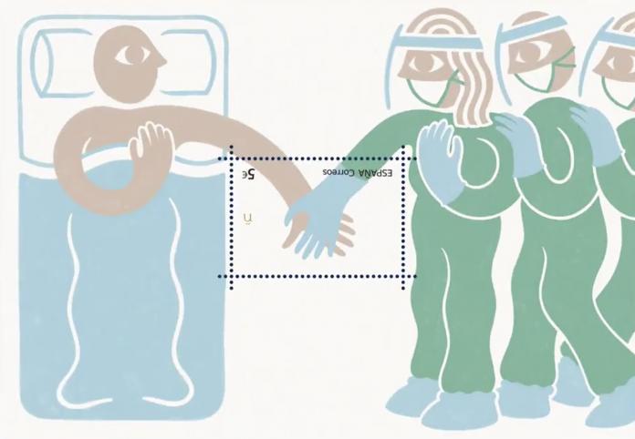 Correos lanza un sello en agradecimiento a los sanitarios