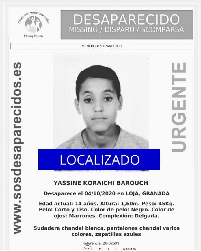 Localizan en Sevilla al menor desaparecido en Loja
